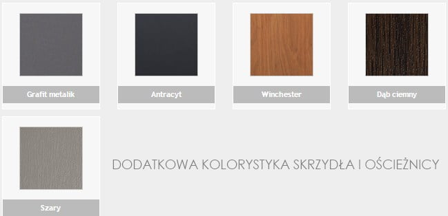 dodatkowa kolorystyka drzwi stalowych
